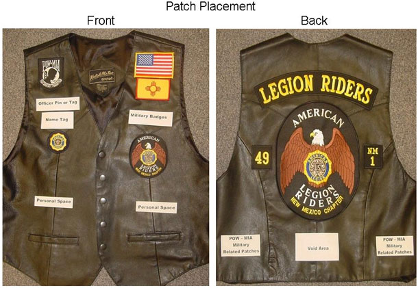 ALR Riders Vests showing patch placement